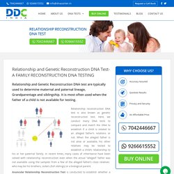 Genetic Reconstruction DNA Test - DNA Center India
