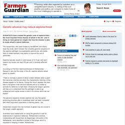 FARMERS GUARDIAN 10/06/11 Genetic advance may reduce septoria threat