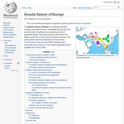 Genetic history of Europe