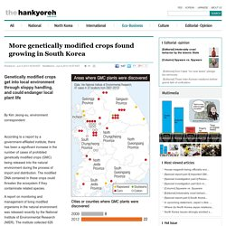 THE HANKYOREH 05/06/13 More genetically modified crops found growing in South Korea
