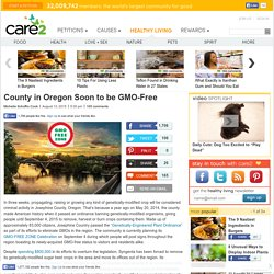 County in Oregon Soon to be Free of Genetically-Modified Crops