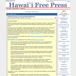 US Patent Pending for Genetically Modified Marijuana > Hawaii Free Press