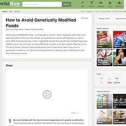 How to Avoid Genetically Modified Foods: 8 steps