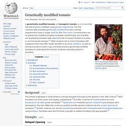 Genetically modified tomato - Wikipedia
