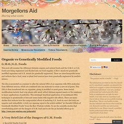 Organic vs Genetically Modified Foods « Morgellons Aid
