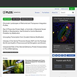 Magazines - PLoS Genetics: A Peer-Reviewed Open-Access Journal