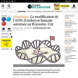 Génétique. La modification de l'ADN d'embryon humain autorisée au Royaume-Uni