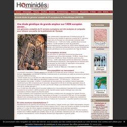 Grande étude génétique des européens préhistoriques - Hominides