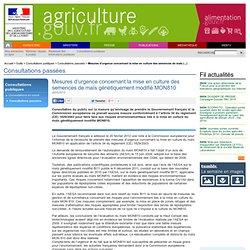 Mesures d'urgence concernant la mise en culture des semences de maïs génétiquement modifié MON810