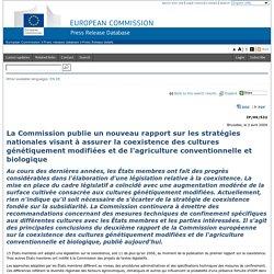 EUROPE 02/04/09 La Commission publie un nouveau rapport sur les stratégies nationales visant à assurer la coexistence des cultur