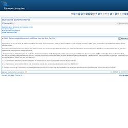 Semences génétiquement modifiées dans les feux d'artifice - E-000354/2011