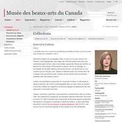 Geneviève Cadieux - Musée des beaux-arts du Canada