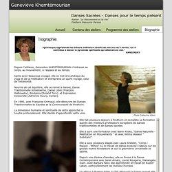 Geneviève Khemtémourian - Danses Sacrées, Danses pour le Temps Présent