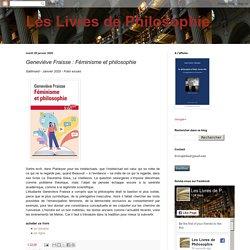 Geneviève Fraisse : Féminisme et philosophie