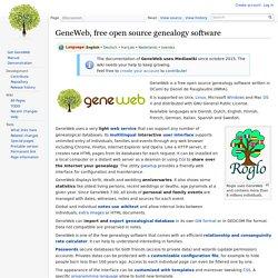 GeneWeb (uniquement en local)