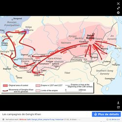 Genghis Khan empire-en - Empire mongol