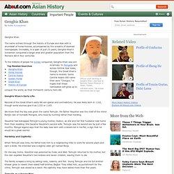 Genghis Khan Biography