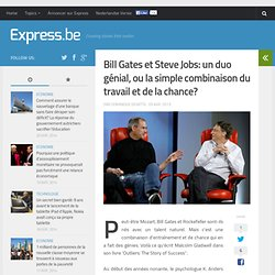 Bill Gates et Steve Jobs: un duo génial, ou la simple combinaison du t