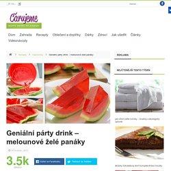 Geniální párty drink - melounové želé panáky