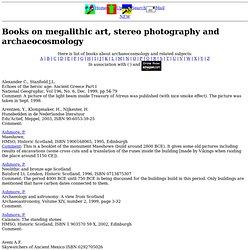Geniet: Books on archeoastronomy