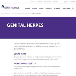 Genital Herpes - Family Planning