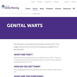 Genital Warts - Family Planning