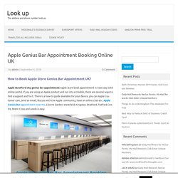 Apple Genius Bar Appointment Booking Online UK