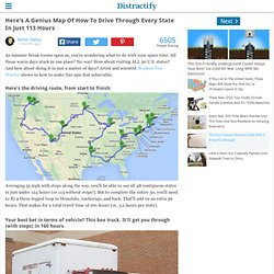 Here's A Genius Map Of How To Drive Through Every State In Just 113 Hours