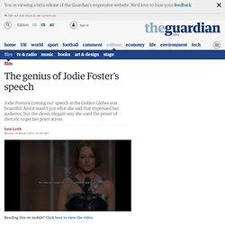 The genius of Jodie Foster's speech