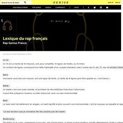 RapGenius France – Lexique du rap français Lyrics