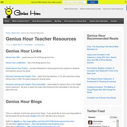 Genius Hour Teacher Resources - Genius Hour