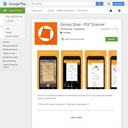 Genius Scan - PDF Scanner – Applications sur GooglePlay