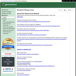 geniushour - Student Resources