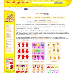 "Genki English Uno Style ESL Card Game ""One Left"""