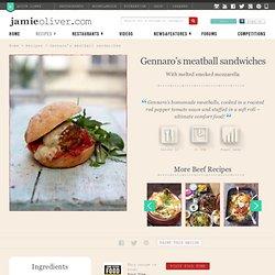 Gennaro's meatball sandwiches