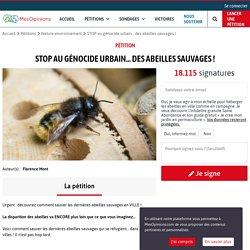 STOP au génocide urbain… des abeilles sauvages !