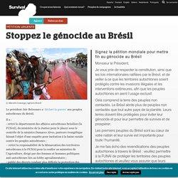 Stoppez le génocide au Brésil - Survival International