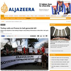 Turkey calls on France to halt genocide bill - Europe