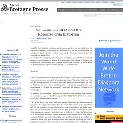 Génocide en 1914-1918 ? Réponse d'un historien