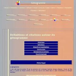 Génogramme