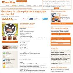 Génoise à la crème pâtissière et glaçage au chocolat : Recette de Génoise à la crème pâtissière et glaçage au chocolat