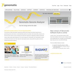 Genomatix - understanding gene regulation