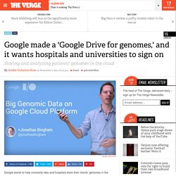 Google made a 'Google Drive for genomes,' and it wants hospitals and universities to sign on