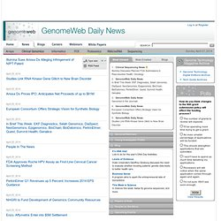 GenomeWeb Daily News