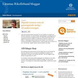 Digitala resurser som ett genomgående inslag i sfi-undervisningen - Ivana Eklund