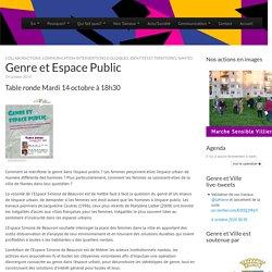 Genre et Espace Public