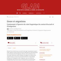 Genre et migrations – GLAD!