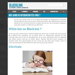 Quel genre de referenceur etes-vous ? | Blacklink