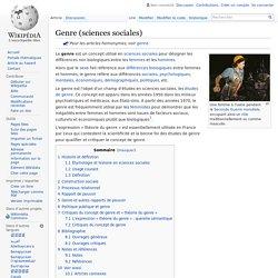 Genre (sciences sociales)