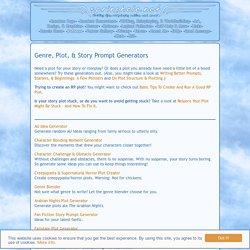 Genre, Plot, & Story Prompt Generators